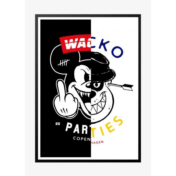 Wacko South 4 - Mørk. Designplakat