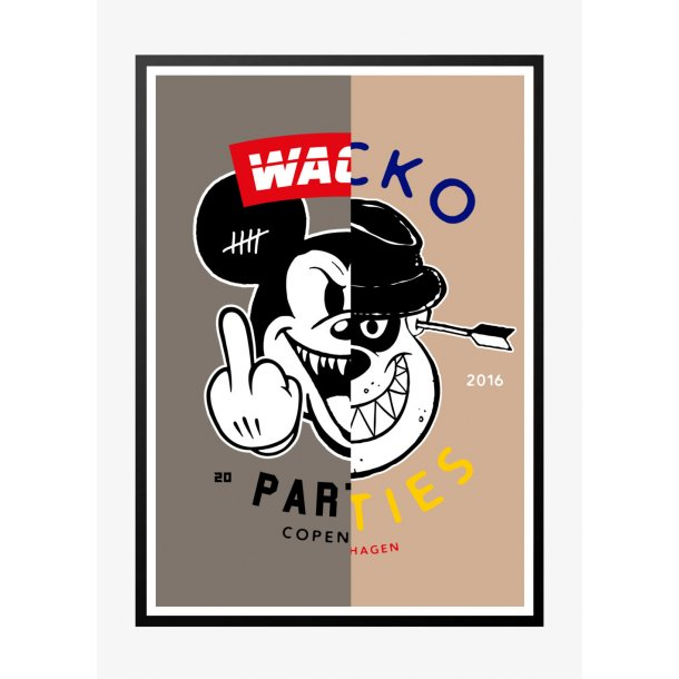 Wacko South 4 - Lys. Designplakat