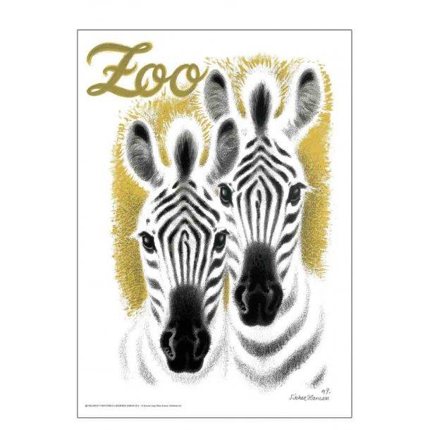 Postkort Hansen, Aage, AN - Zebraer / Zoo 10