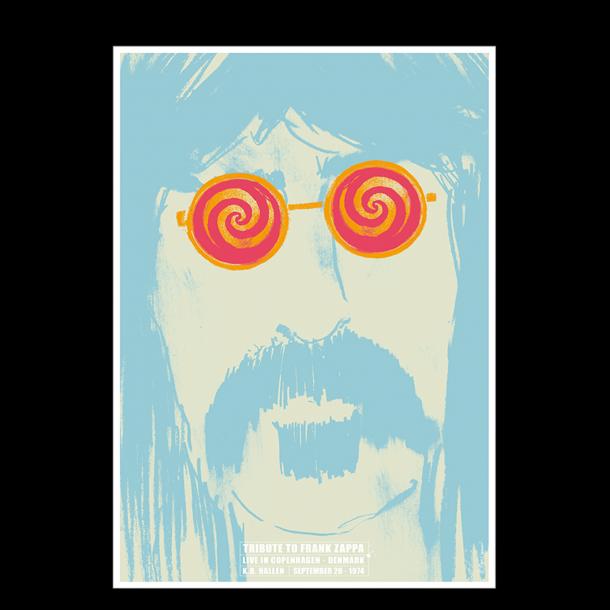Plakat med Frank Zappa   Finn Nygaard