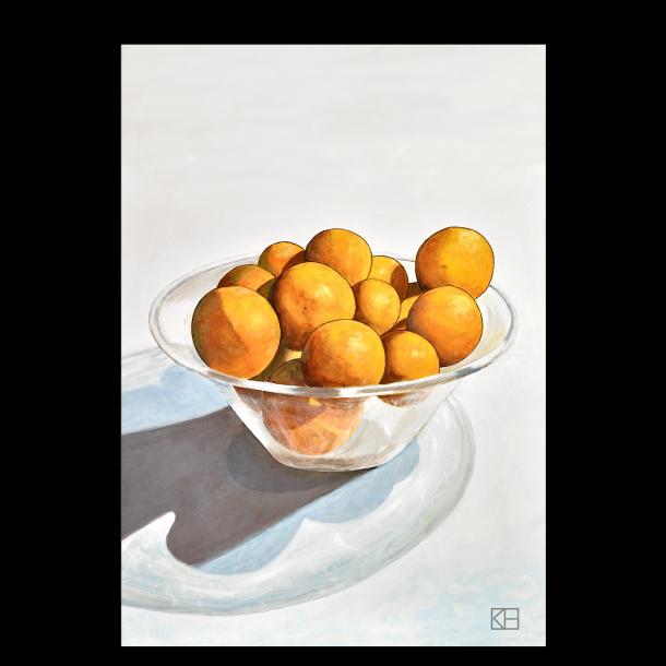 Plakat med appelsiner
