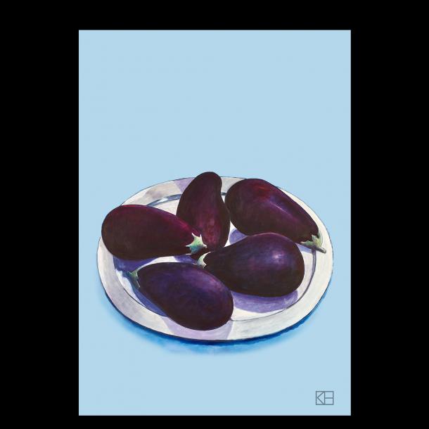 Plakat med auberginer