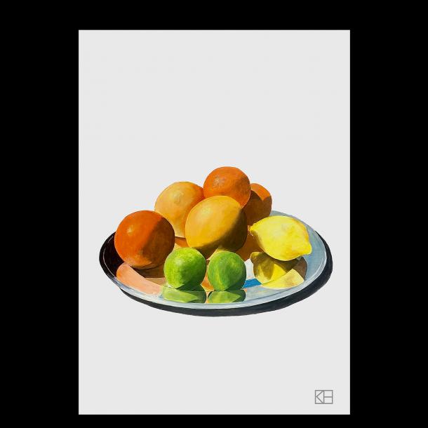 Plakat med blandet frugt
