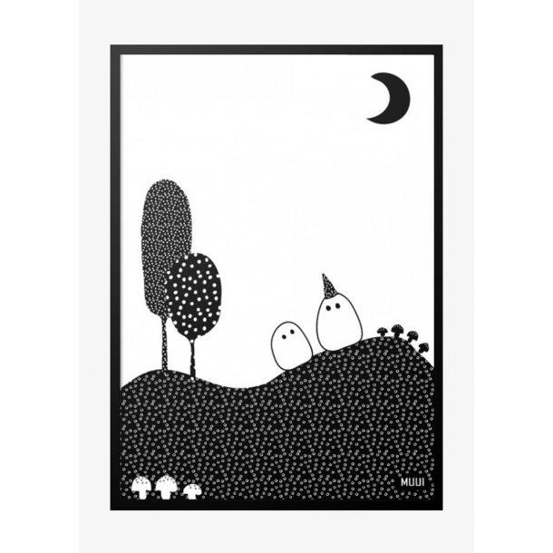 MUUI Buhuu spøgelser. Plakat.