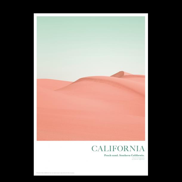 California. Peach sand
