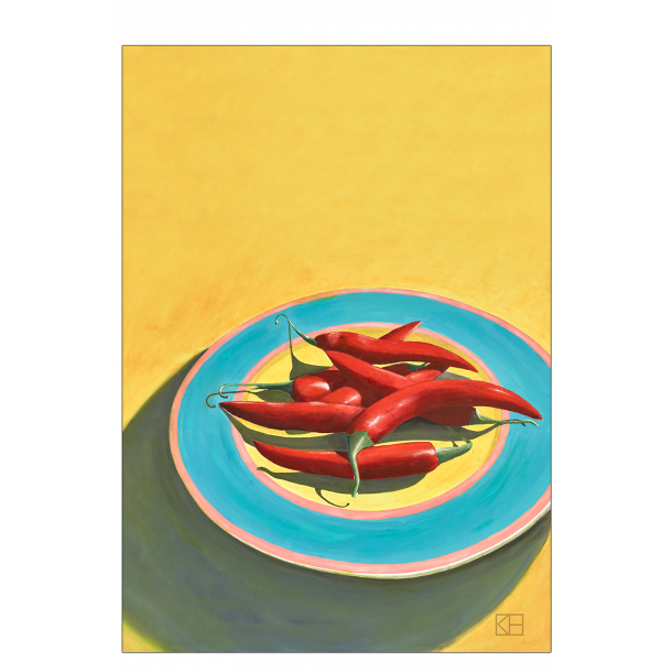 Plakat med chilier
