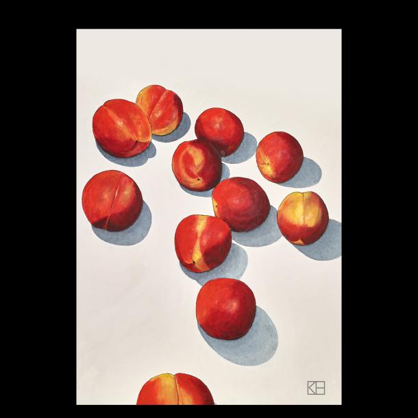 Plakat med ferskener