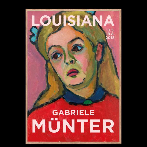 Louisiana plakat: Gabriele Münter, PORTRÆT AF UNG PIGE