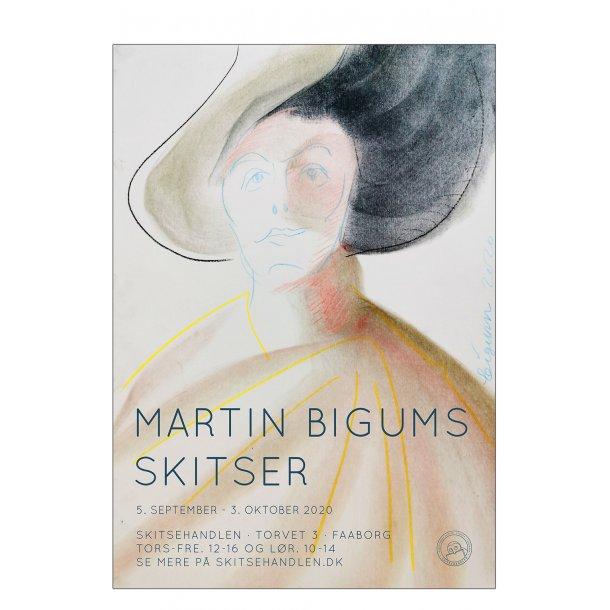 Kvinde med hat. Bigums skitser i Skitsehandlen