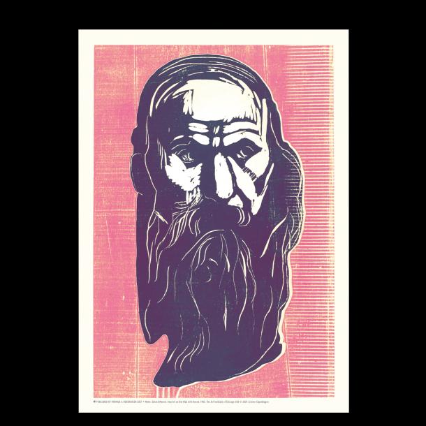 Edvard Munch - Mand med skæg (lilla/pink)