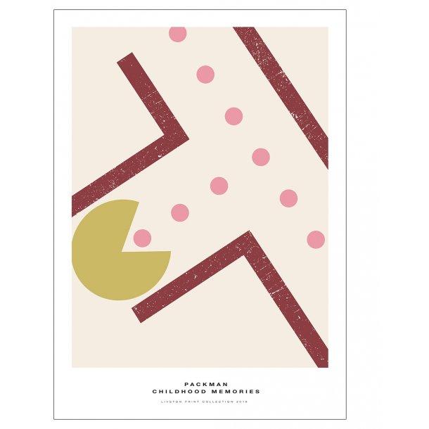 Pac-Man plakat. - Childhood memories. Bordeaux
