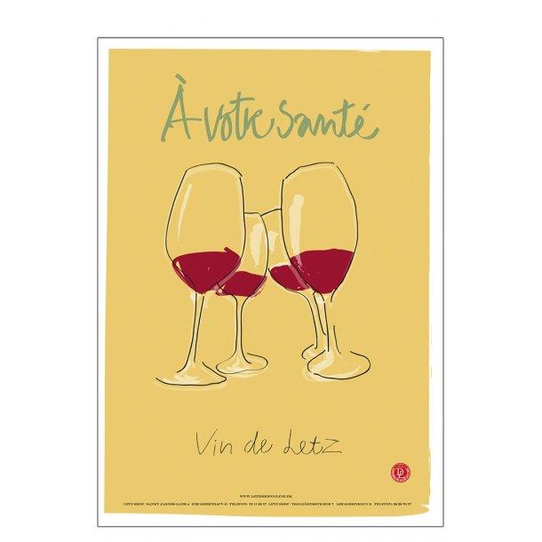 Andersen, - A - À votre sante' - vin de Letz