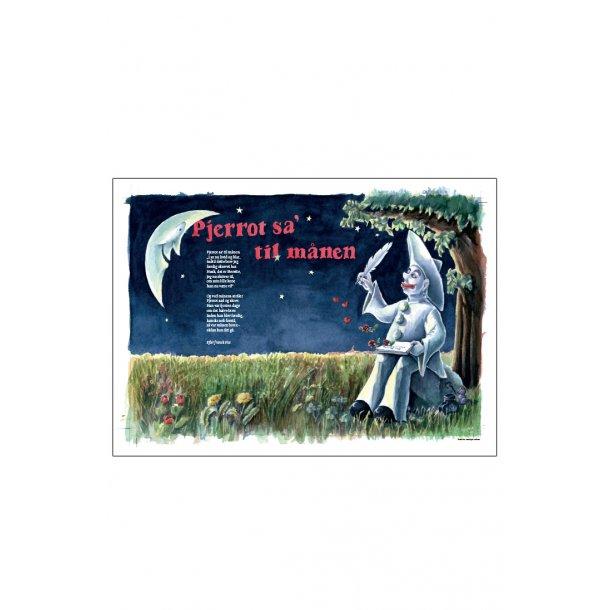 Pjerrot sa' til månen, sangplakat