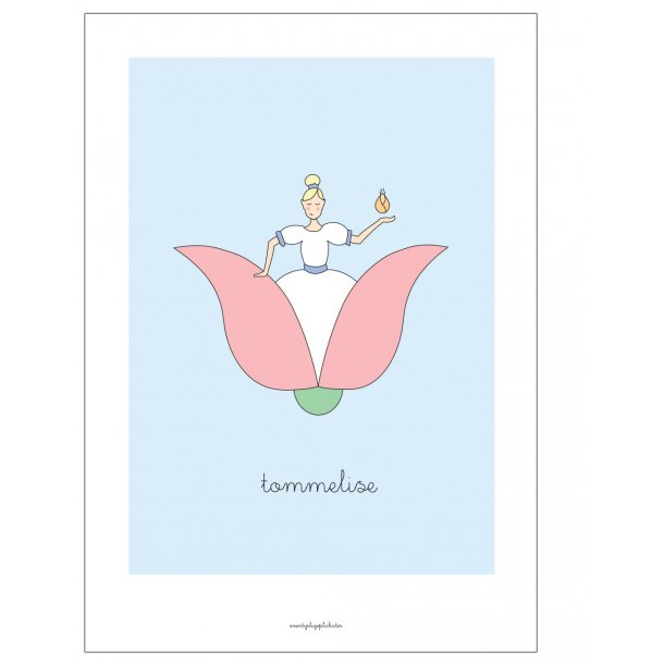 H.C. Andersen - Tommelise. Børneplakat.
