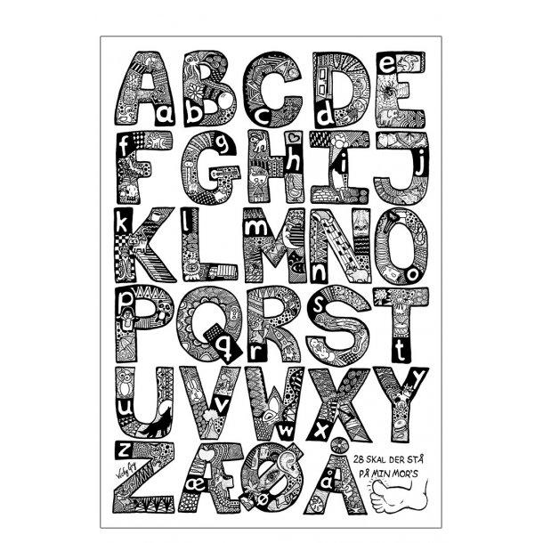ABC plakat. Illustration af alfabetet