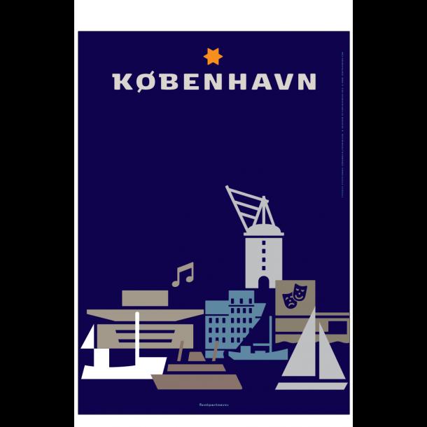 København plakat - Ikoner