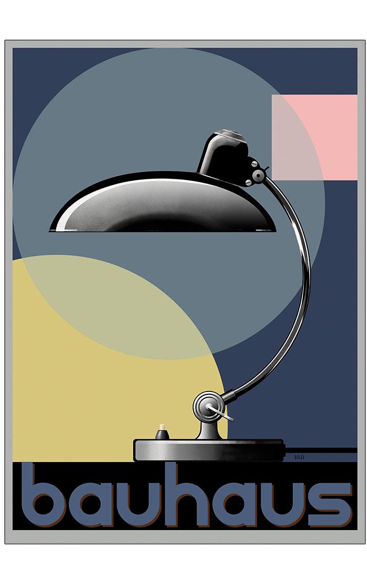Picture of: Sort Lampe Bauhaus Plakat Plakater Permild Rosengreen