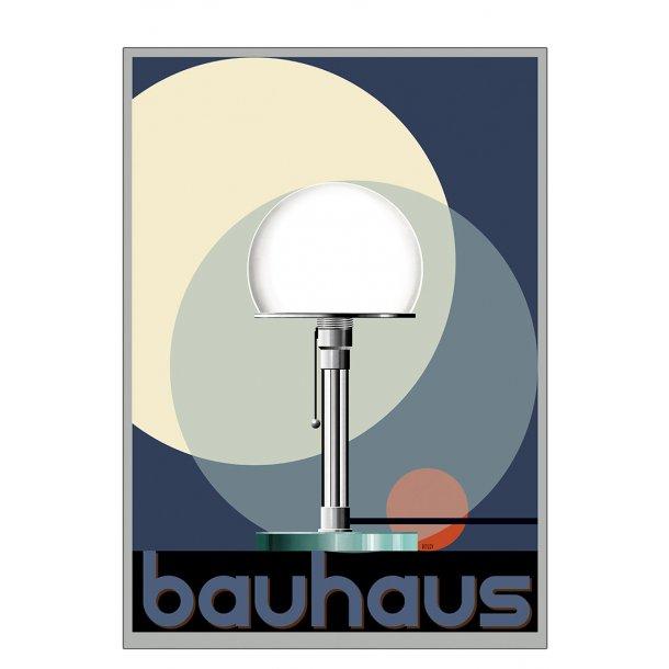 Glaslampe - Bauhaus - plakat
