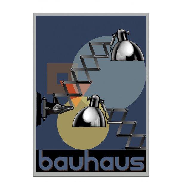 Sakselampe - Bauhaus - plakat