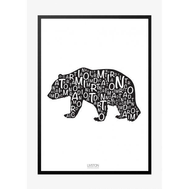 I am Nordic plakat - Bjørn. Plakat med dyr.