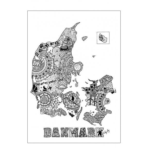 Danmark illustration - plakat
