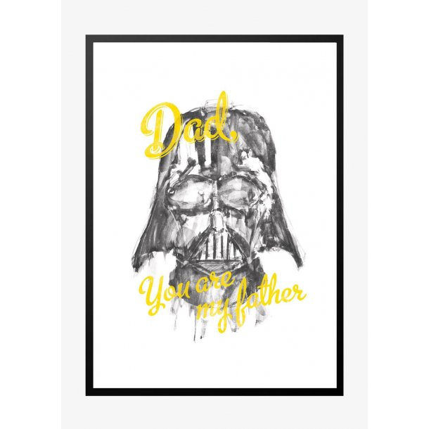 Star Wars. Dad you are my father - gul. Plakat.