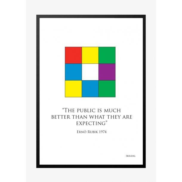 Ernő Rubik, Rubiks terning. Plakat.