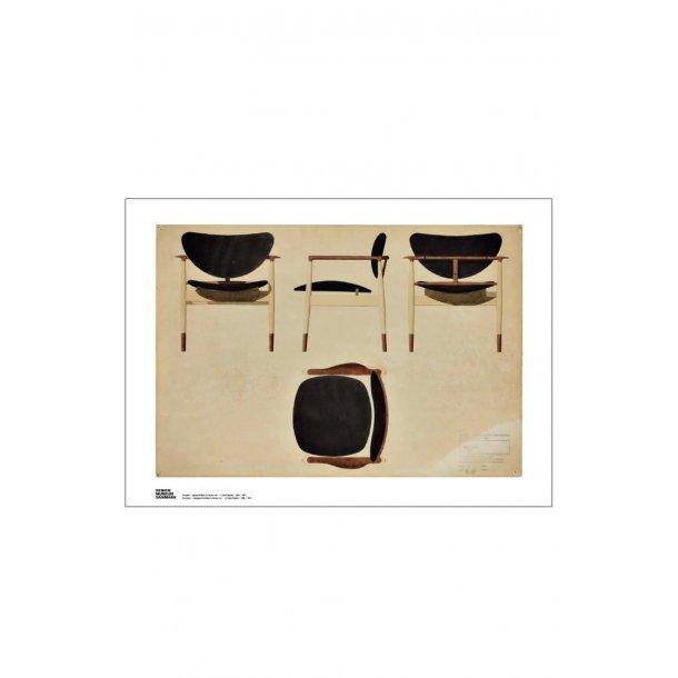 Armstol tegnet til Baker Furniture, Inc. Finn Juhl