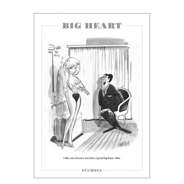 Big heart - Füchsel humørplakat