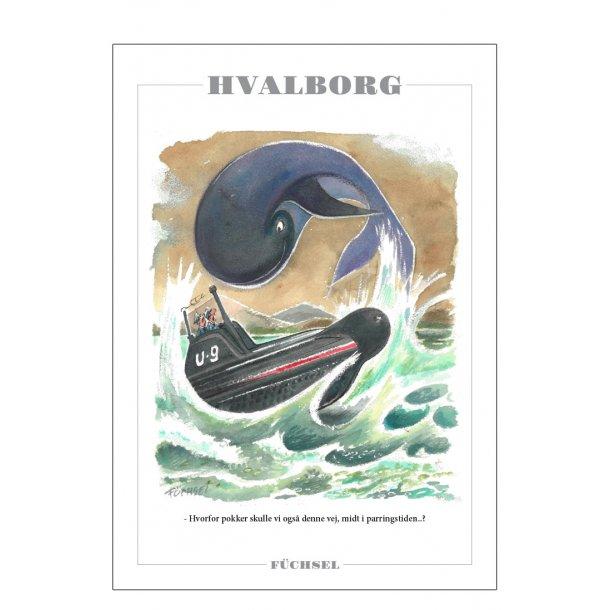 Hvalborg - Füchsel humørplakat
