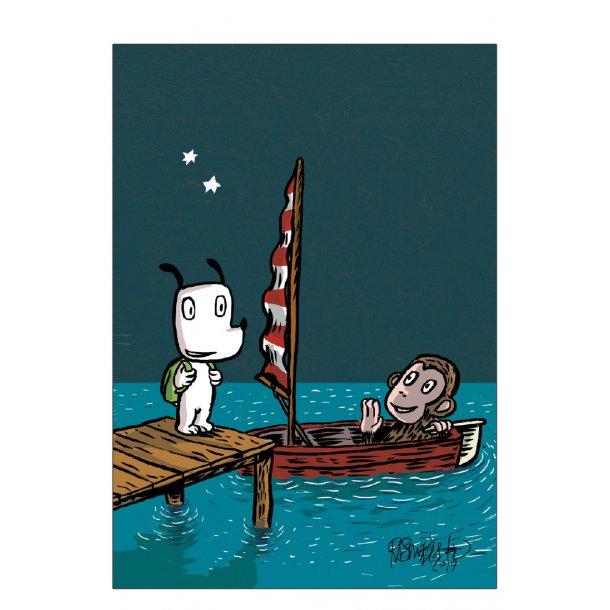 Hunden Ib på sejltur