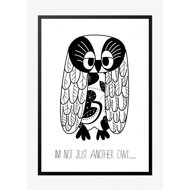 I'm not just another owl. Plakat med dyr.