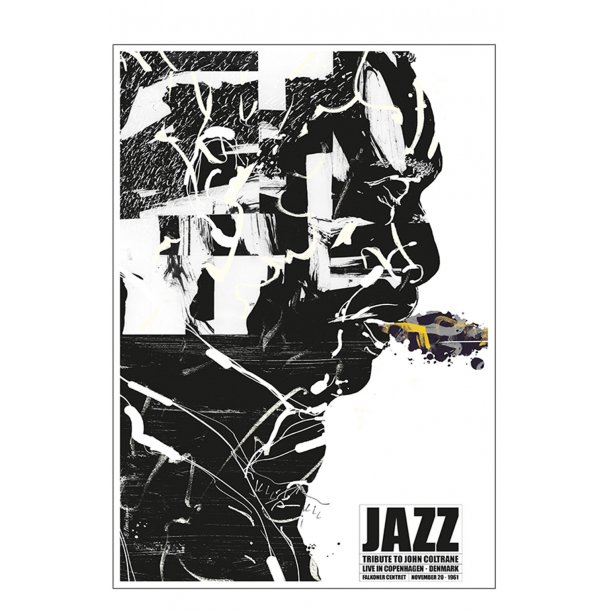 Jazz plakat – tribute to John Coltrane