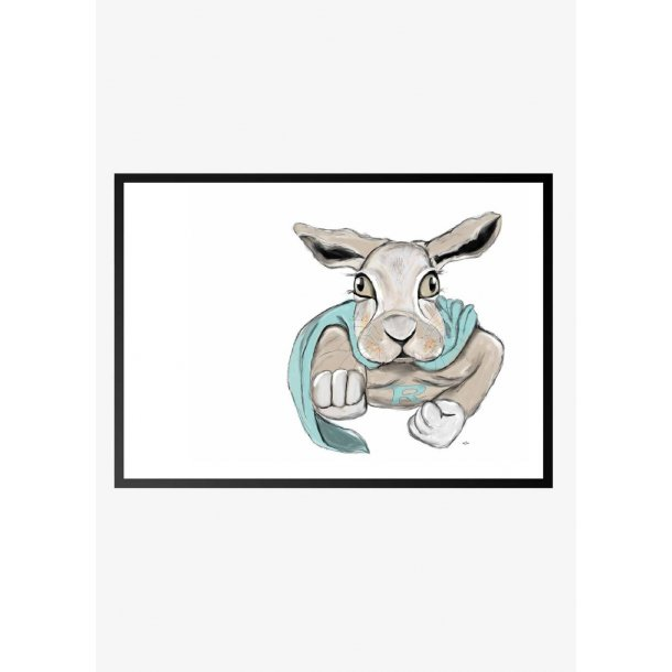 Super kanin. Plakat med dyr.