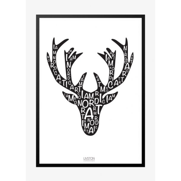 I am Nordic plakat - elg. Design plakat.