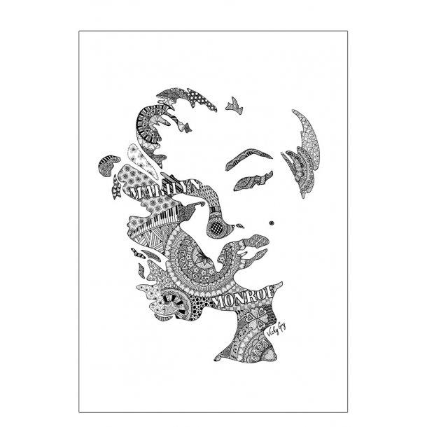 Marilyn Monroe illustration - plakat