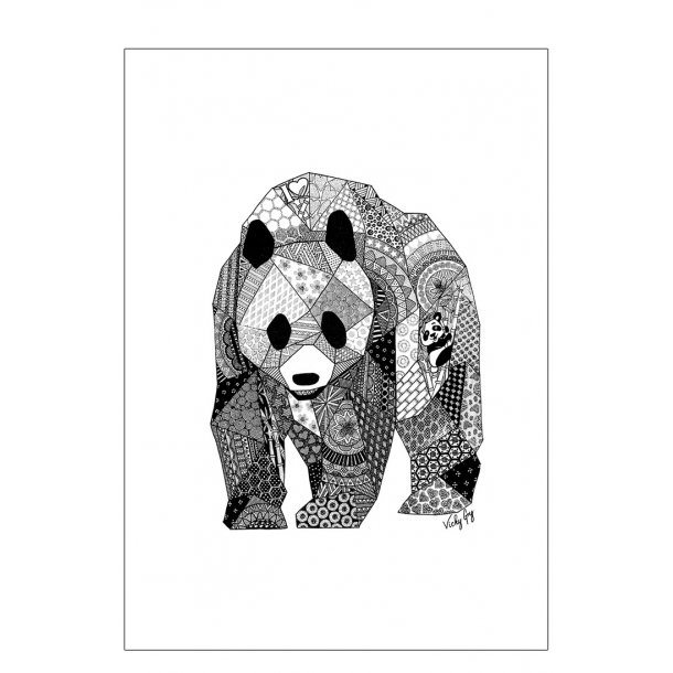 Panda plakat. Super fin illustration