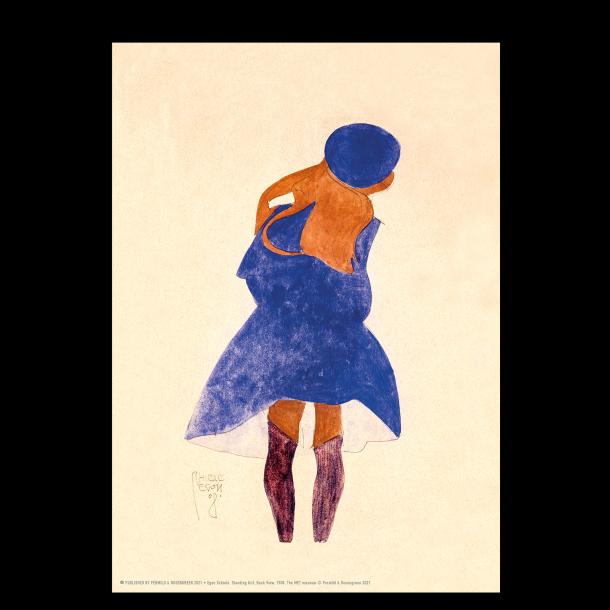 Egon Schiele. Pige med blå hat