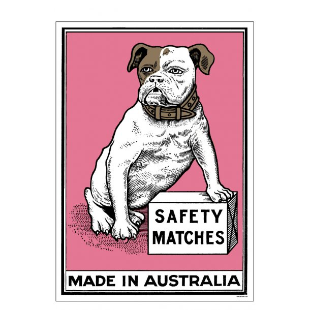 Safety Matches Pink, Small Box Art