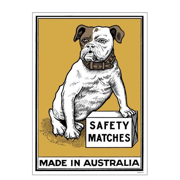 Safety Matches Yellow, Small Box Art