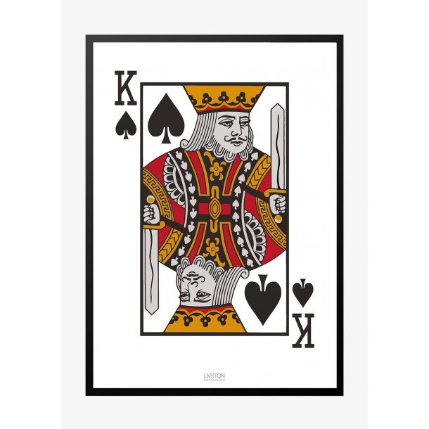 Spar konge - kortspil plakat