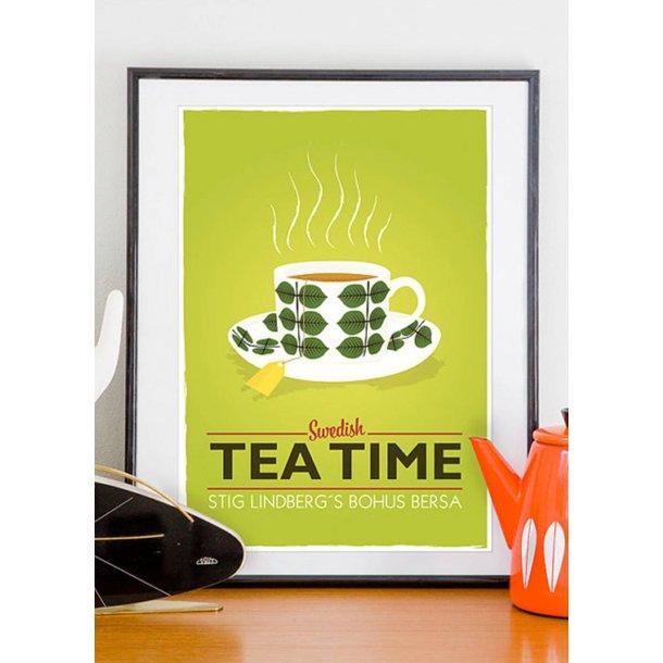 Swedish Tea Time. Retro plakat.